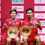 """นักแบดมินตันคู่ผสมคู่แรกของโลกที่คว้า """"ทริปเปิ้ลแชมป์""""1.Yonex Thailand open 2020 2.Toyota Thailand open 2020 3.HSBC BWF World Tour Finals 2020"""