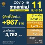 สถานการณ์การติดเชื้อCOVID-19ในประเทศ