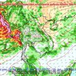 พยากรณ์อากาศรายภาคของประเทศไทยพร้อมแผนที่แสดงพื้นที่เสี่ยงภัยฝนตกหนักถึงหนักมากบริเวณประเทศไทย ประจำวันที่ 15 มิถุนายน 2564 เวลา 05.00 น.